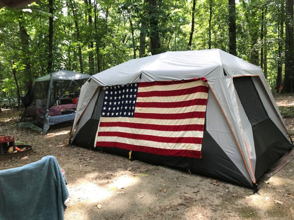 two tents at a campsite in pennsylvania