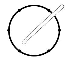 position de la baguette pour un coup en cross stick