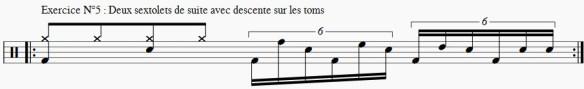 Exercice en sextolets, variation de passage binaire vers ternaire