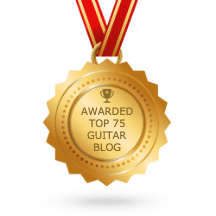 top 75 guitar blogs badge