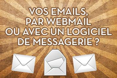 Email par webmail ou logiciel de messagerie - StudioXine