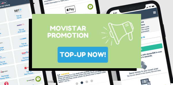 Top-up your Movistar phone with these exclusive doctorSIM discounts