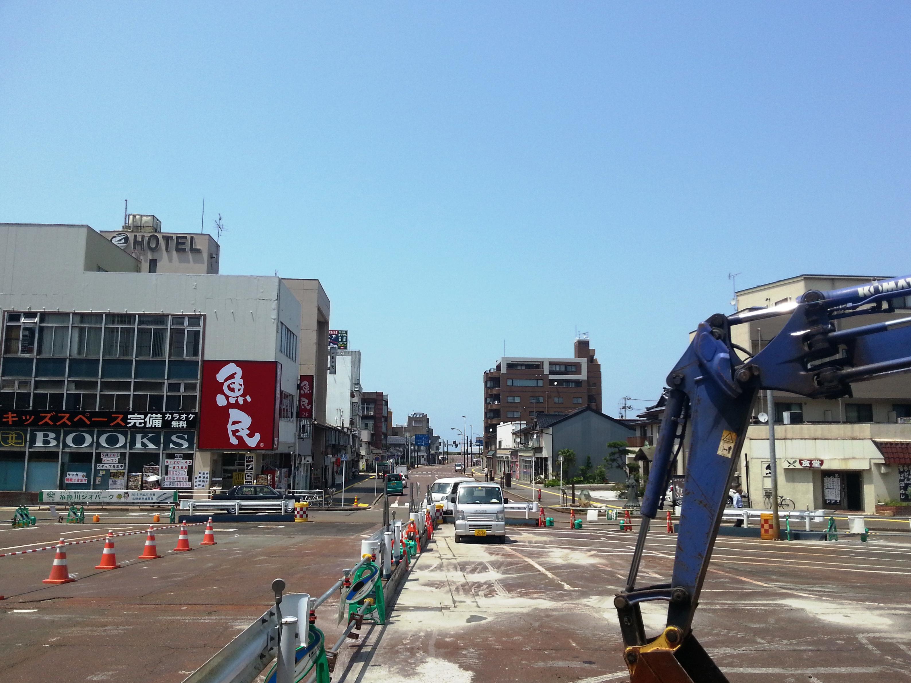 View of Downtown Itoigawa from Itoigawa Station.