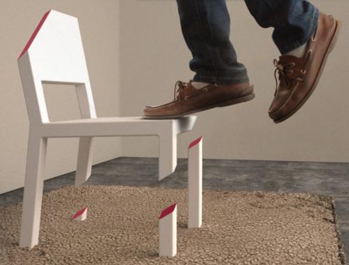 Cut Chair Illusion Parfaite Par Peter Bristol Blog
