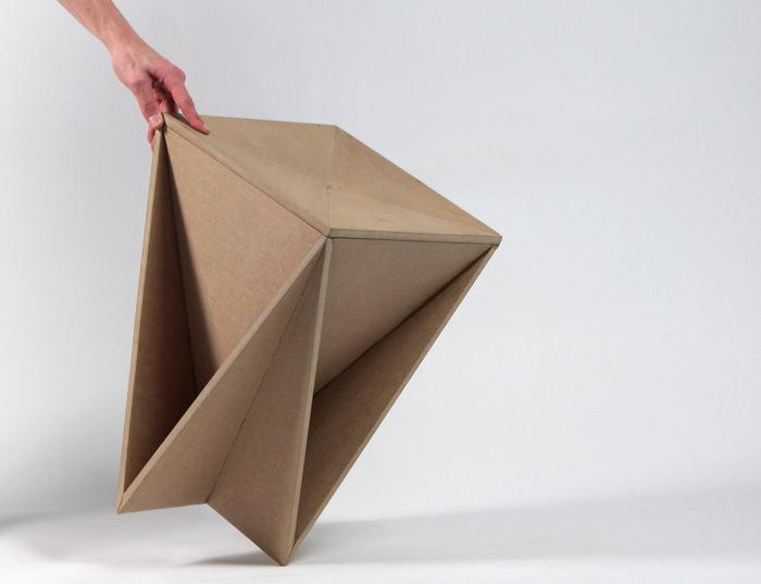 Stool Concept Tabouret Origami Guillaume Allemon BED