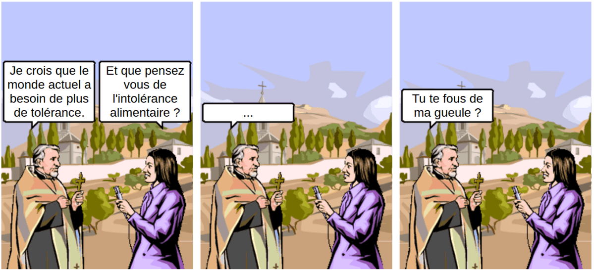 Intolérance alimentaire - comic