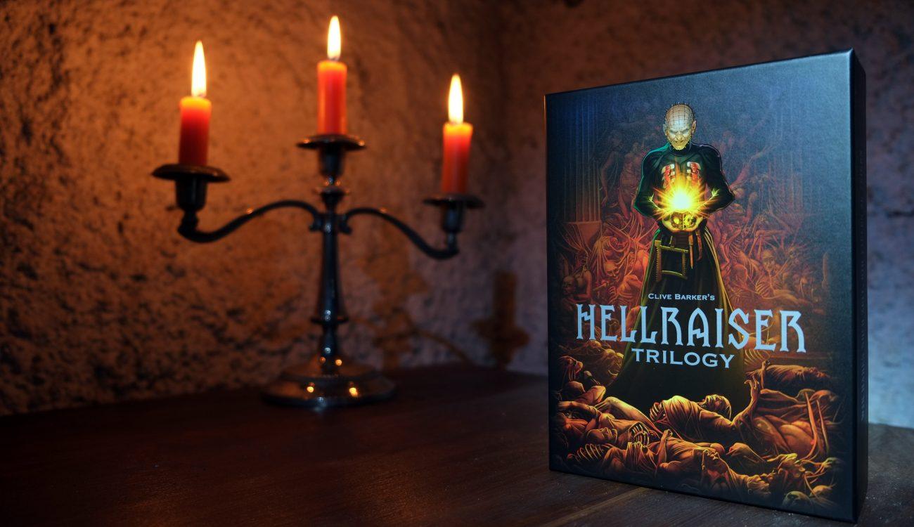 Hellraiser Trilogy Blu-ray-Deluxe-Box Limited Edition Blu-ray-Set 5 Discs im Digipack Buch im Hartkarton 1750 Stück