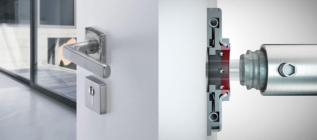 Poignée de porte Sertos® de HOPPE : montage facile – démontage rapide