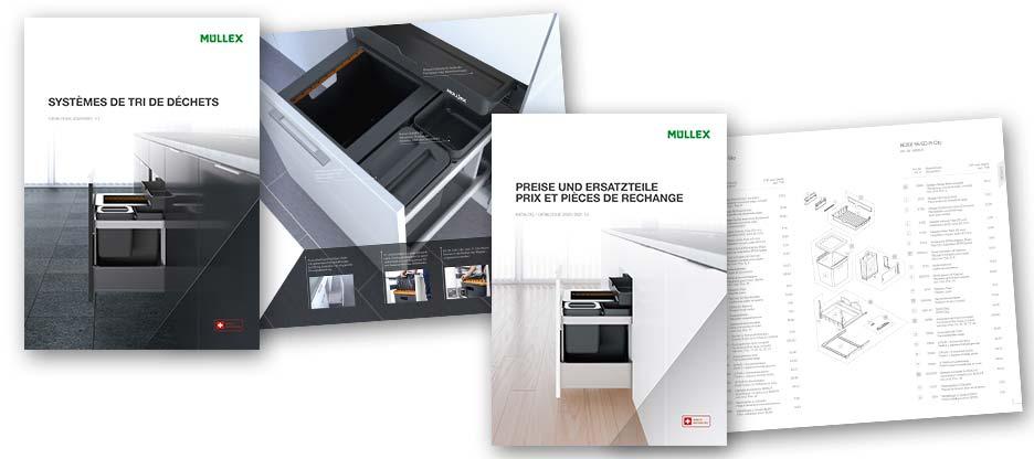 MÜLLEX : systèmes de déchets et pièces de rechange