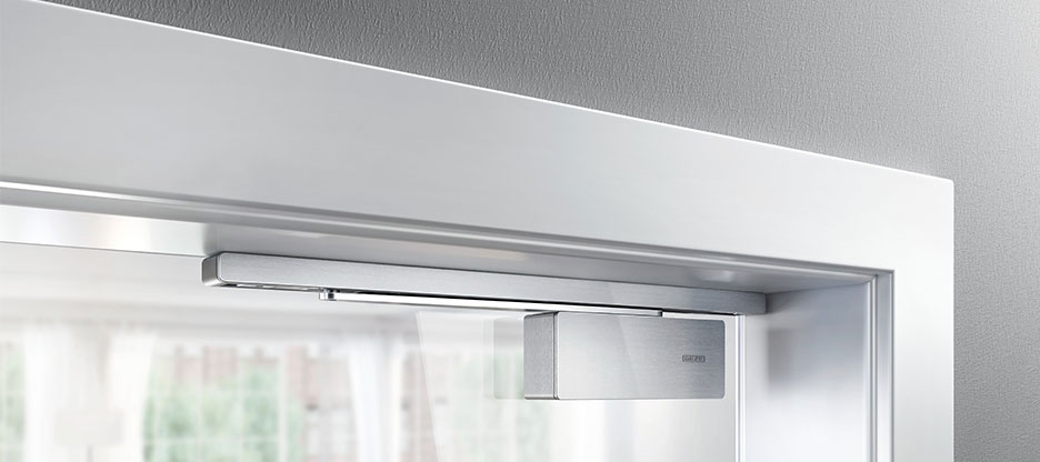 GEZE ActiveStop: amortisseur bilatéral pour portes coulissantes en bois et en verre en intérieur