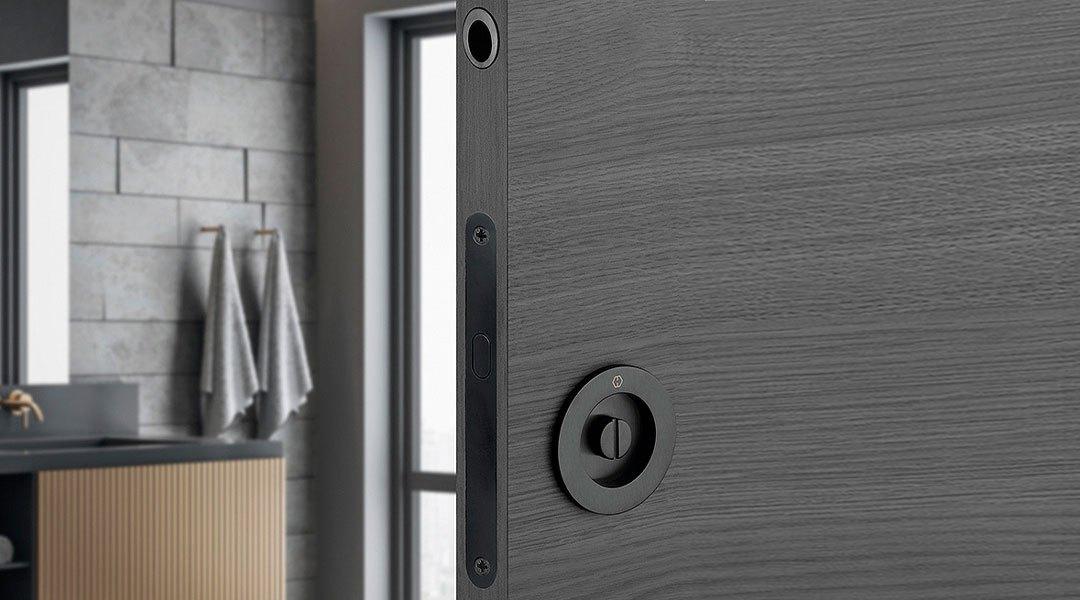 Élégants et polyvalents : HOPPE jeux pour portes coulissantes en couleur tendance noir