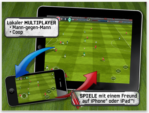 FIFA 2011 iPad App Multiplayer