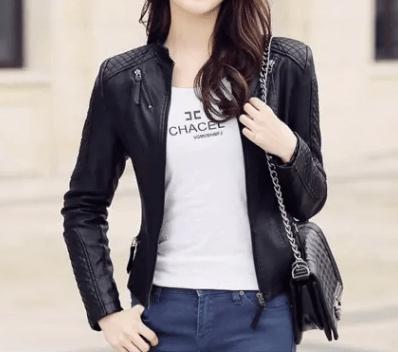 Leather jackets women