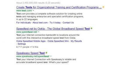 Liens de resultats de recherche soulignes sur Google Search