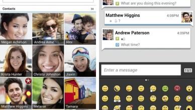 L'interface de la messagerie BBM de Blackberry