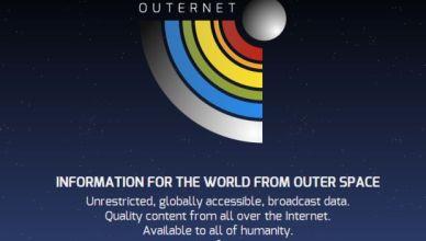 un accès WiFi gratuit depuis l'espace en projet l'Outernet