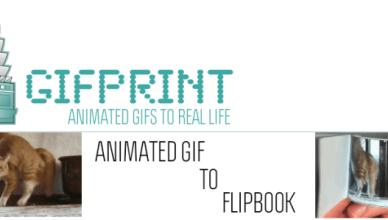 GIFprint format papier d'un chat
