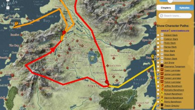 Une carte interactive pour Game of Thrones