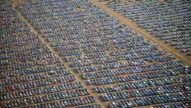 Parking fantôme pour voitures invendues