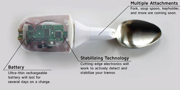 Cuillères high tech Liftware contre parkinson