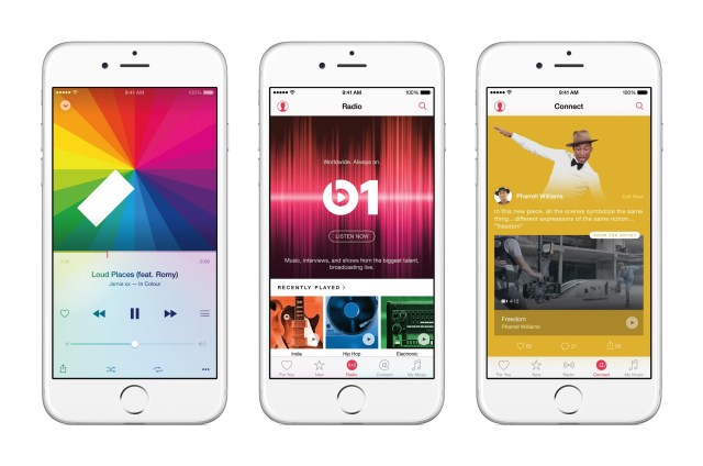 Interface de la nouvelle application Apple Music