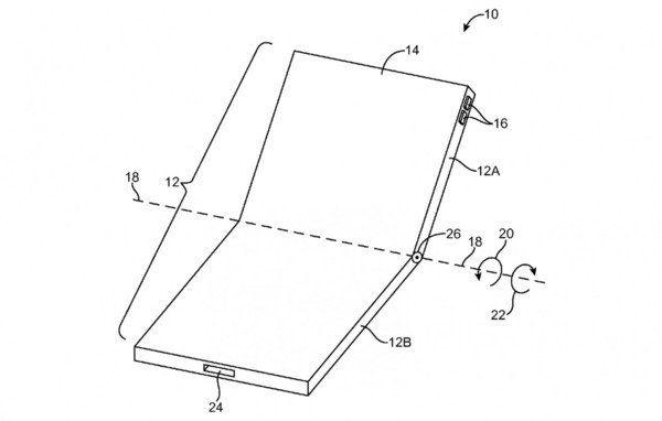 croquis-du-concept-de-lecran-pliable-iPhone 8