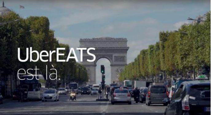 Uber Eats disponible sur Paris