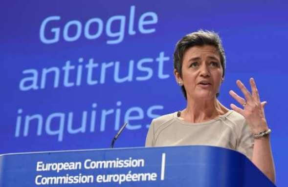 Margrethe Vestager déclare une amende record pour Google