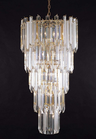 Optic Acrylic Chandelier From Triarch International