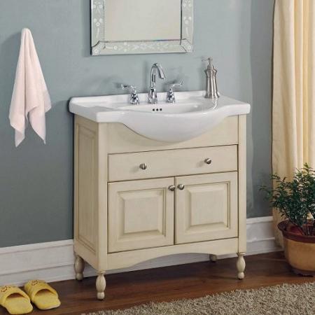narrow bathroom vanities - a simple solution for a small bathroom
