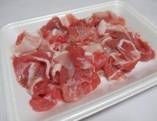 豚こまとキャベツのオイスターソース炒め 材料①