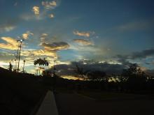 コスタリカの夕日