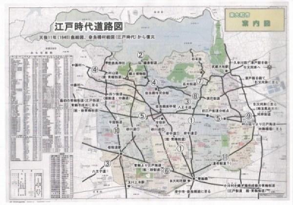 東大和の古道江戸時代の道路地図