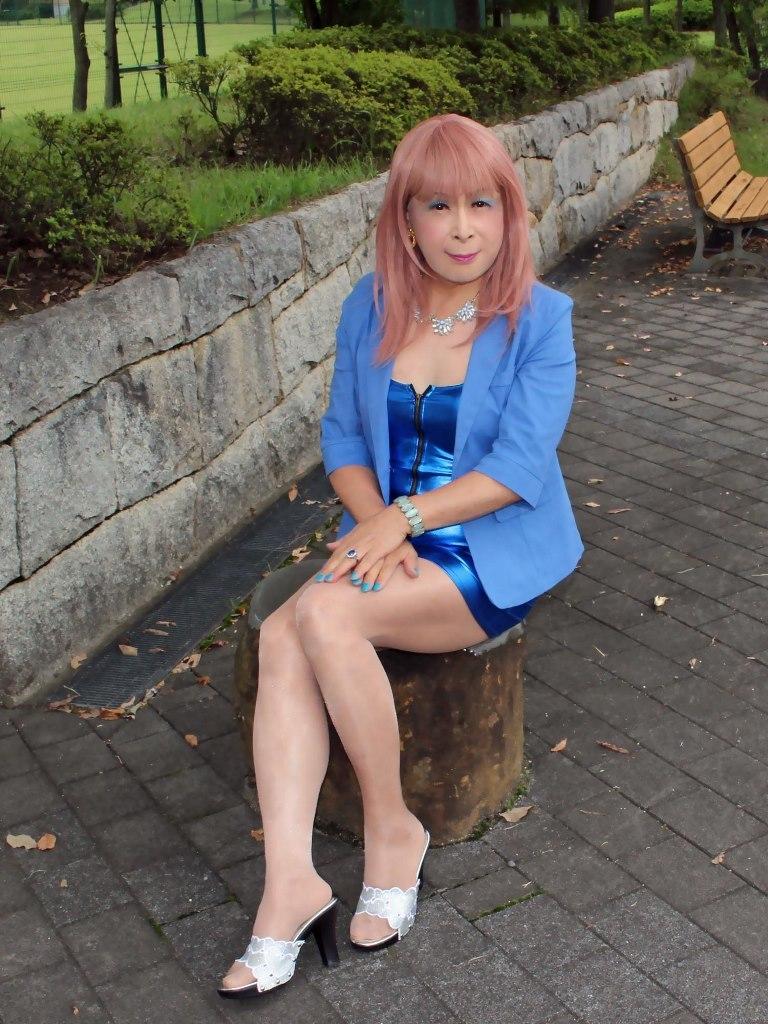 青色ホディコンミニワンピB(4)
