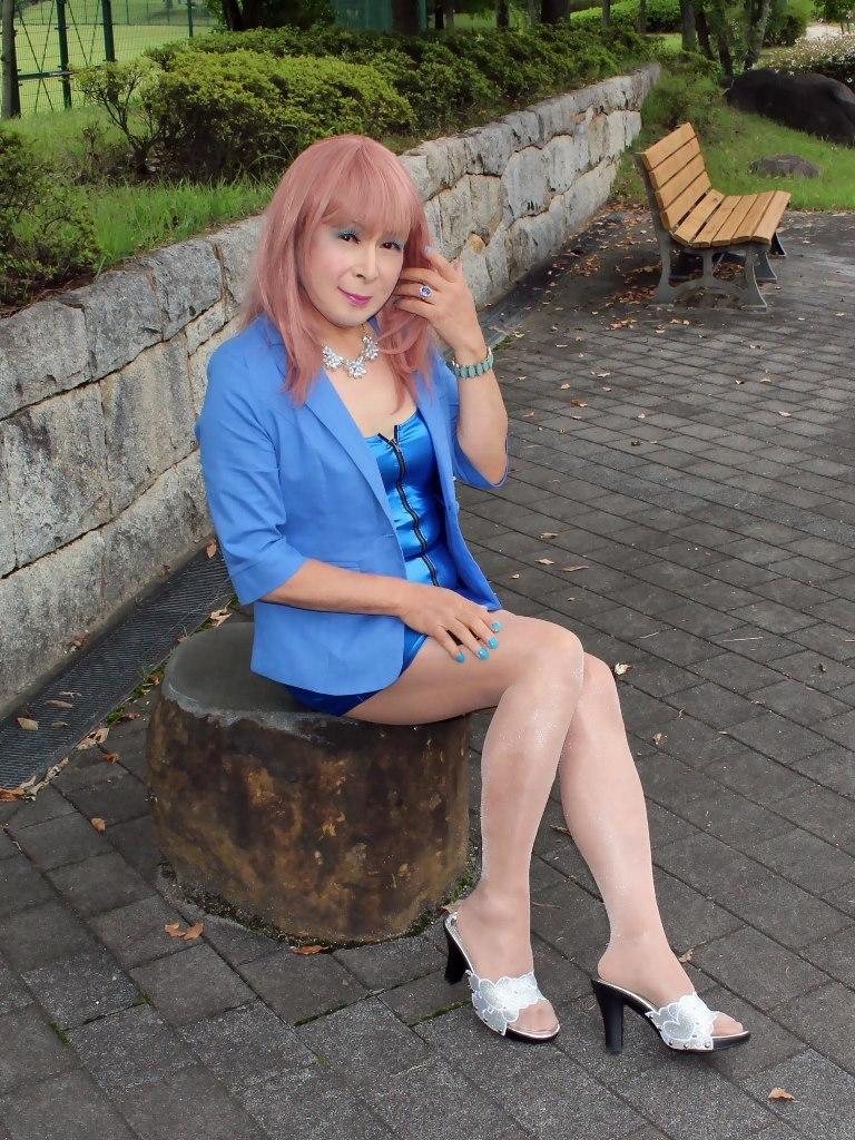 青色ホディコンミニワンピB(6)