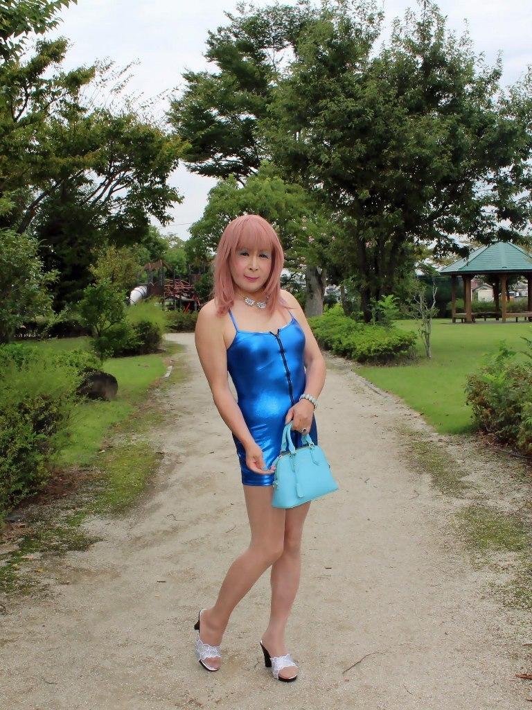 青色ボディコンミニワンピB(7)