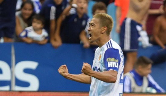 Real Zaragoza 2-1 Extremadura UD Shinji Kagawa goal