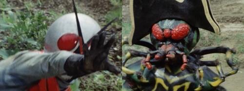 仮面ライダーXがエネルギーを吸収されてやられて敗北してしまう。