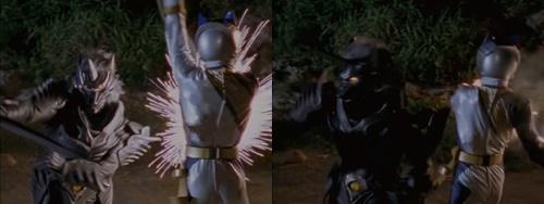 戦隊ヒーロー、ガオシルバーが邪気の復讐に苦戦の連続でやられてしまう。