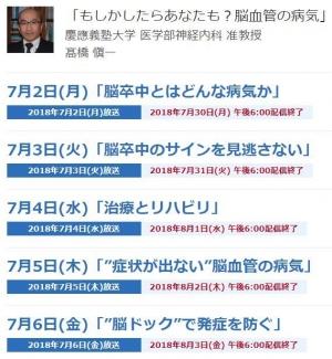 20180706脳血管の病気NHK