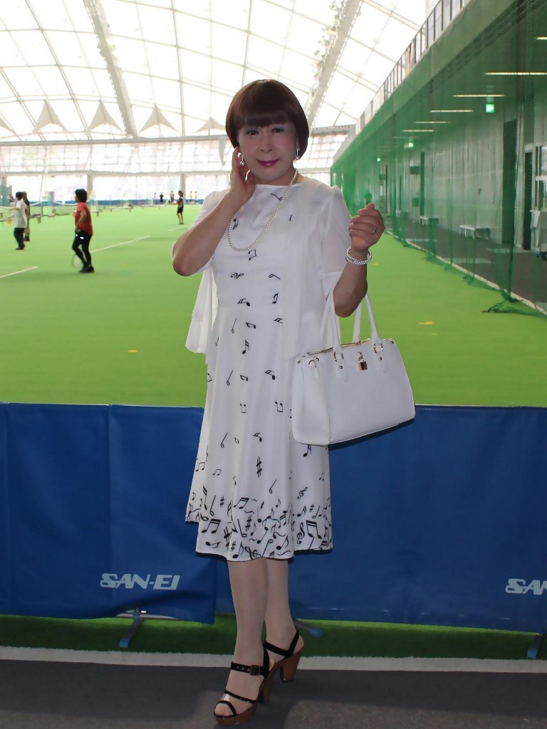 裾音符柄ワンピB(5)