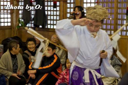 白符大神宮新年祭 松前神楽 山神舞