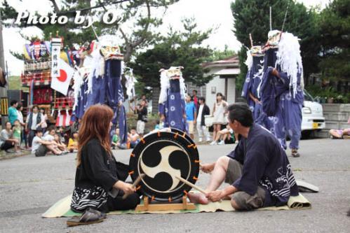 江差町 田沢稲荷神社 鹿子舞