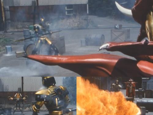 メタルヒーローのビーファイターカブトがやられて苦戦