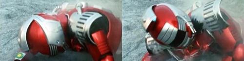 メタルヒーロー、レスキューポリス、エクシードラフト隊長「レッダー」がやられて完全敗北