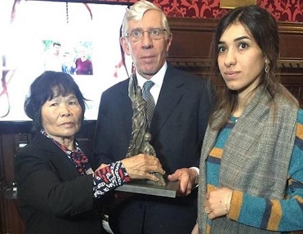 【英議会・ライダイハン問題集会】ノーベル平和賞のムラド氏「性暴力に対して団結し、正義の実現まで行動を」 韓国の戦争性犯罪問題に訴え