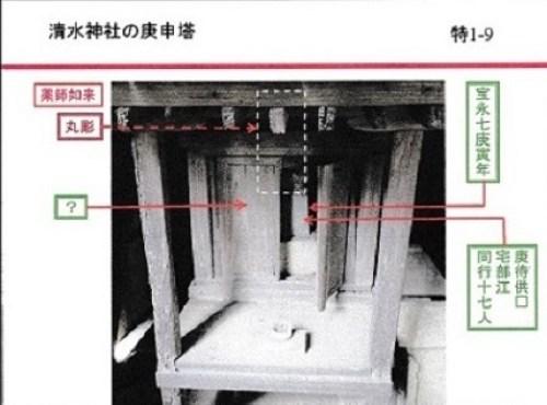 清水神社の庚申塔1