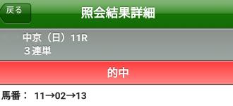 チャンピオンズカップ三連単