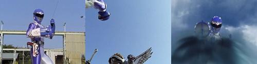 戦隊ヒーロー、ボウケンブルー対スーパー風のシズカ