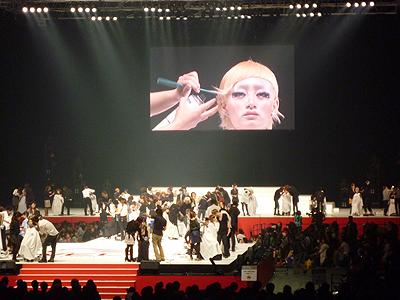 真野美容専門学校 ウェラ主催 トレンドビジョンスーパーライブ2009